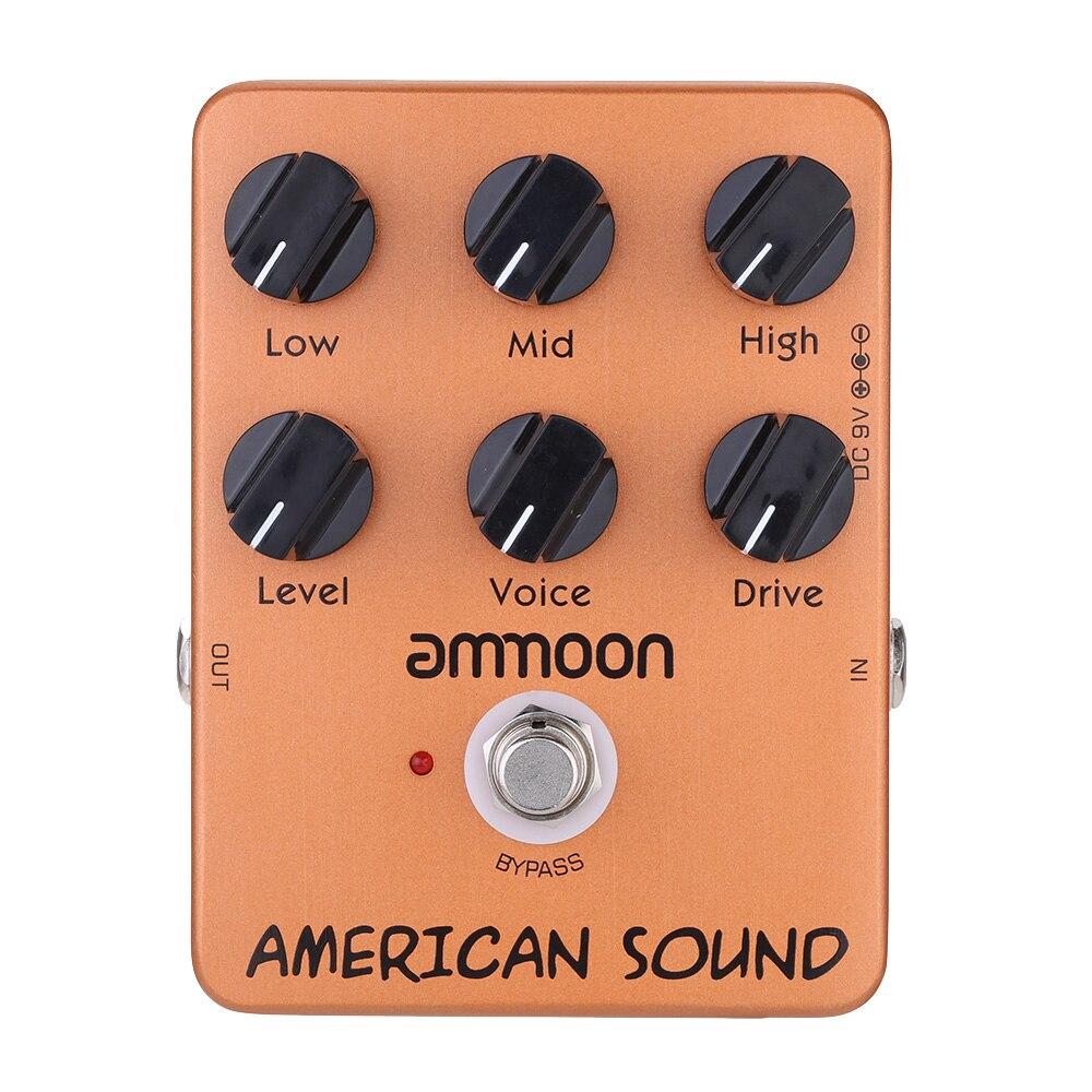 Ammoon AP-13, amplificador de sonido americano, simulador de guitarra con efecto de Pedal, Bypass auténtico, piezas y accesorios de guitarra de alta calidad