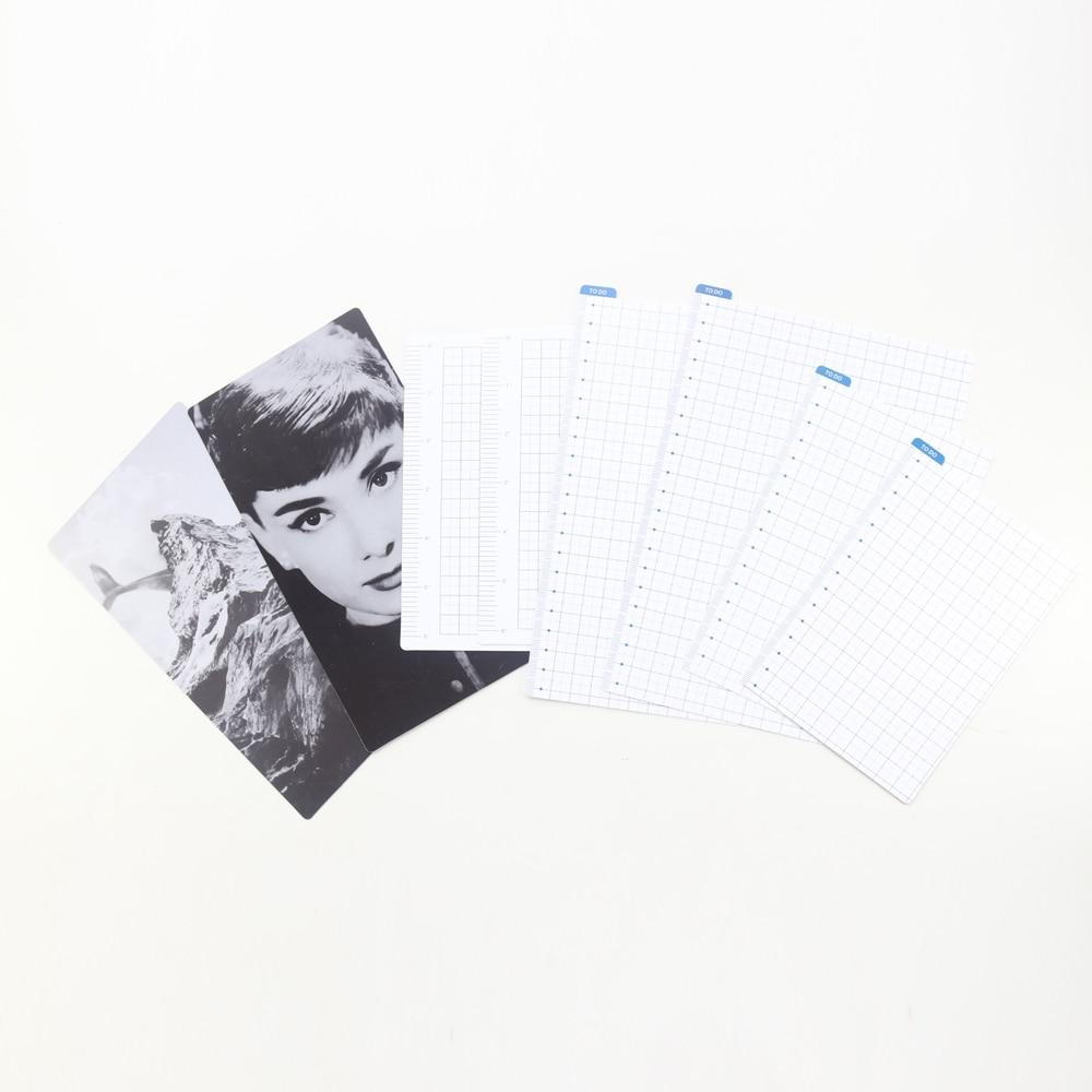 Divisor de índices Domikee classic PP para 6 archivador con agujeros cuadernos planificadores, separador de regla fina/marcador para diarios de viajeros, 4 tamaños