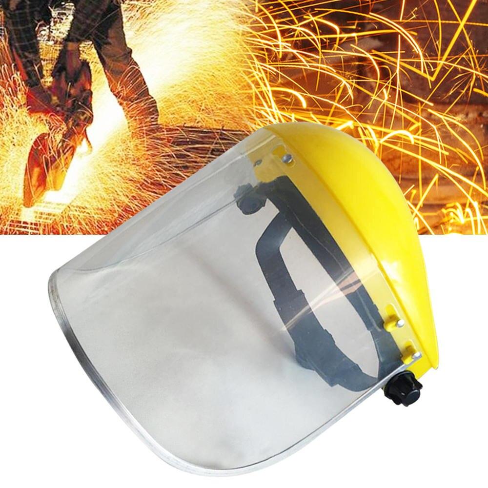 1 шт. Новый Желтый бензопилы шлем триммер безопасности шлем шляпа + Полное Лицо сетки козырек резки травы защитный экран