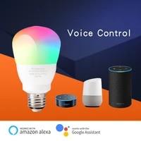Ampoule LED intelligente E27 9W wi-fi  lampe magique a couleur changeante RGB   blanc  fonction de minuterie reglable  fonctionne avec Alexa Google Home Siri