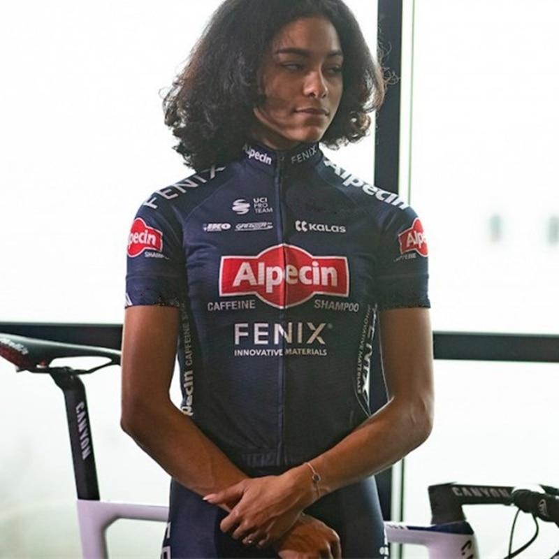 Camiseta de ciclismo para mujer, Alpecin Fenix, camisetas, maillot de verano, uniforme de equipo profesional, Jersey de secado rápido, pantalones cortos de babero, ropa de ciclismo