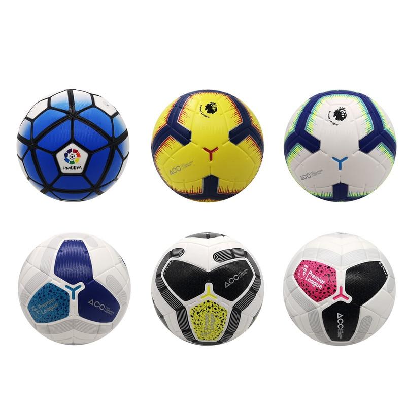 Новейший футбольный мяч стандартного размера 5 футбольный мяч из полиуретана спортивные мячи футбольной лиги тренировочные мячи футбольны...
