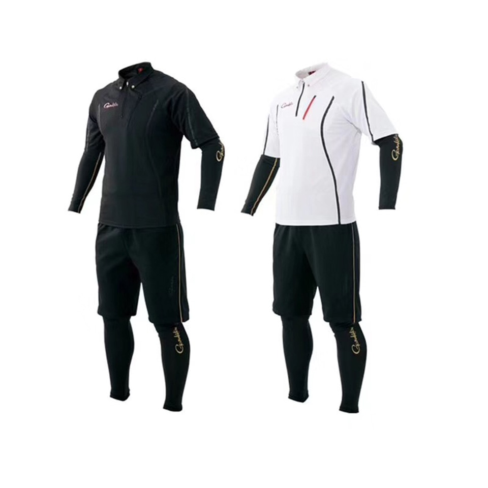 Мужская рубашка и штаны для рыбалки Gamakatsu, комплект быстросохнущей одежды для рыбалки на открытом воздухе с УФ-защитой, комплект одежды для ...