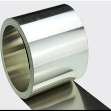 Feuille en acier inoxydable SS304   0.05x100mm, bande fine en aluminium inoxydable, toutes tailles en stock