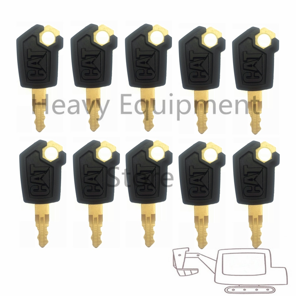 10 шт. ключ для гусеницы CAT зажигание для тяжелой техники погрузчик экскаватор бульдозер металл и пластик черный и золотой