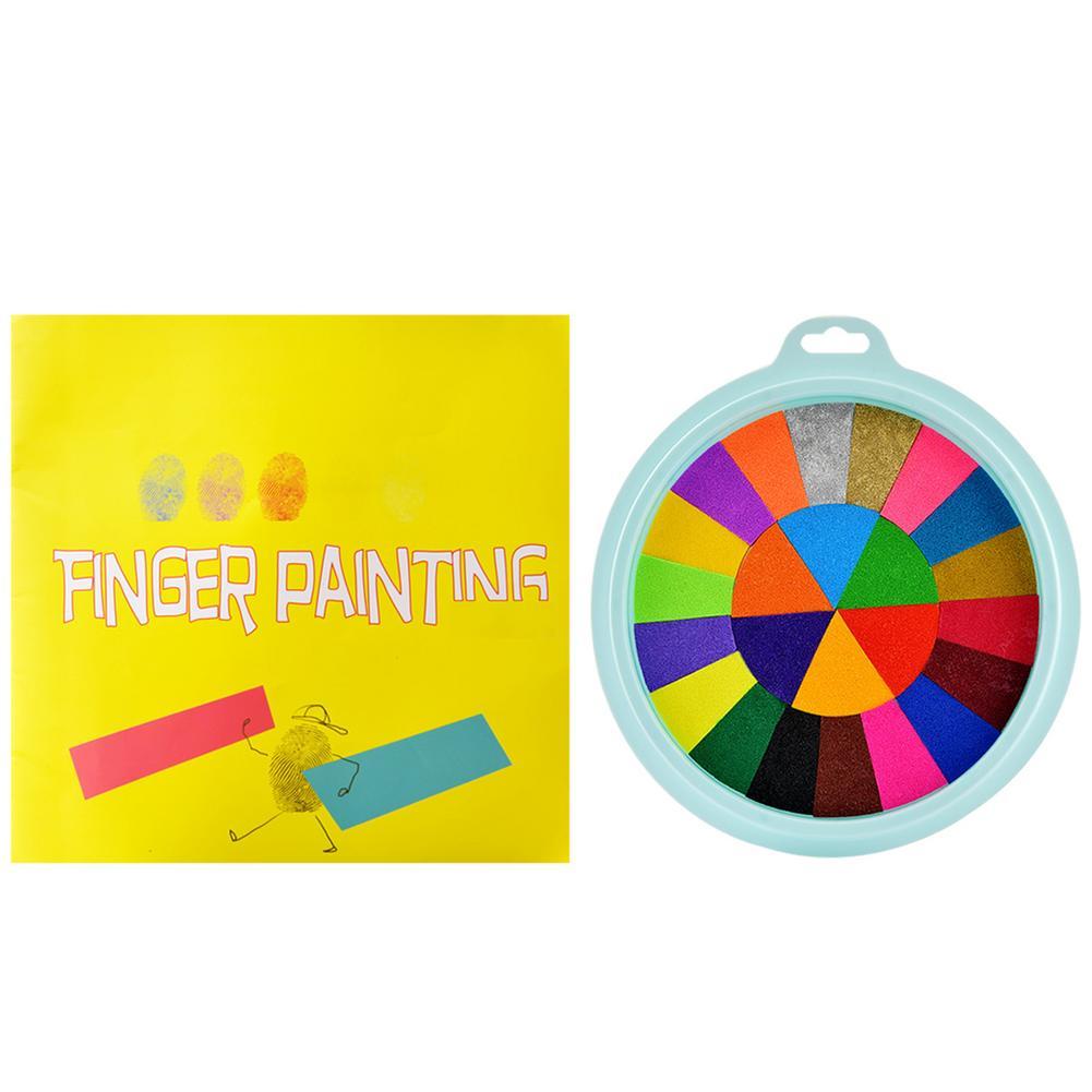 Набор для рисования безопасный нетоксичный ручной набор для рисования подарочный набор игрушка для рисования пальцами забавный набор для ...