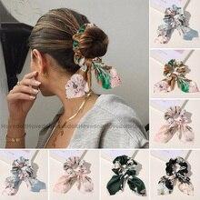 חדש שיפון Bowknot שיער אלסטי להקות לנשים בנות מוצק צבע פצפוצי סרט שיער קשרי קוקו מחזיק שיער Accessorie