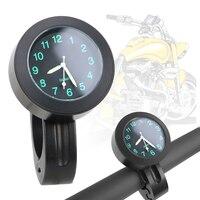 Waterproof Motorcycle Handlebar Quartz Clock Aluminum Black/ Silver Bicycle Watch