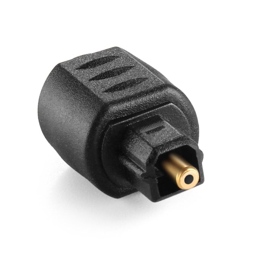 Mini conector óptico hembra de 3,5mm, adaptador de Audio Toslink macho a Digital FKU66