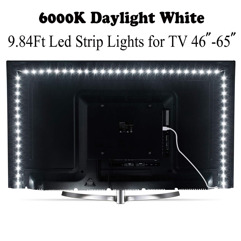 DC5V USB LED franja de SMD2835 Flexible tiras ligeras de LED cinta adhesiva para TV iluminación de fondo