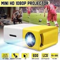 Ecran LCD Portable 400-600 Lumens 320x240 800 1  prise en charge de 1080P  cinema a domicile et au bureau