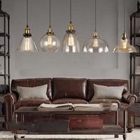 Vintage Retro Glass Pendant Lamps Light Nordic Home Decor Kitchen Pendant Led Lights Home Decor Planetarium Lamp light fixtures
