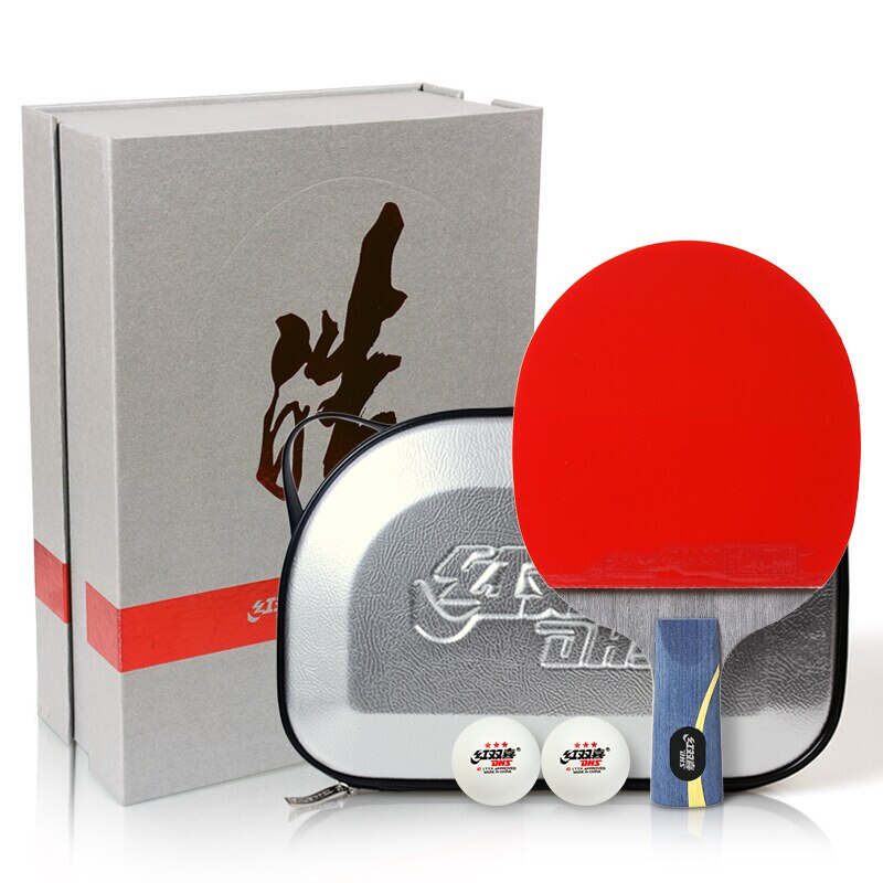 DHS Hurricane Hao Original Table Tennis Racket Skyline 3 + Hurricane 3 Rubber with sponge ping pong set bat