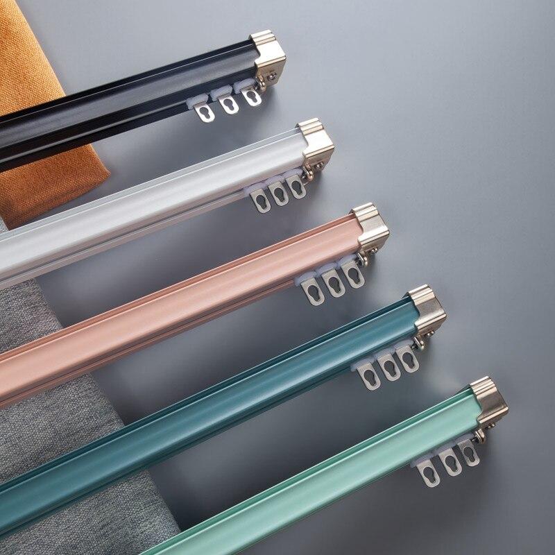 LD1008 وصول جديد ملون Morandi سلسلة واحدة أو مزدوجة الستار على التوالي المسارات تقليص القضبان مخصص الحجم