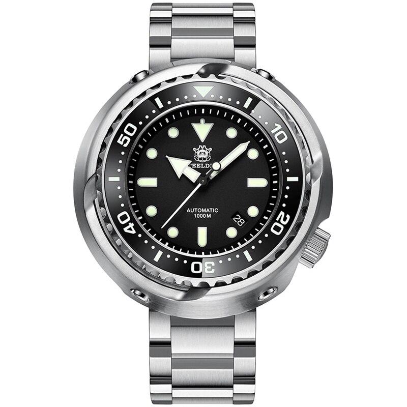 ساعة يد أوتوماتيكية للرياح من steelالغوص موديل 1978 مزودة بخاصية التونة biter al NH35 ياقوت BGW9 مضيئة قياس 316L 1000 متر مقاومة للمياه ساعة غواص ميكانيكية