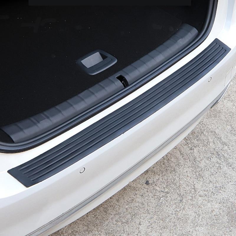 Black PVC Rear Trunk Edge Guard Scratch Protector Universal Bumper Rubber Scratch-Resistant For SUV/Car
