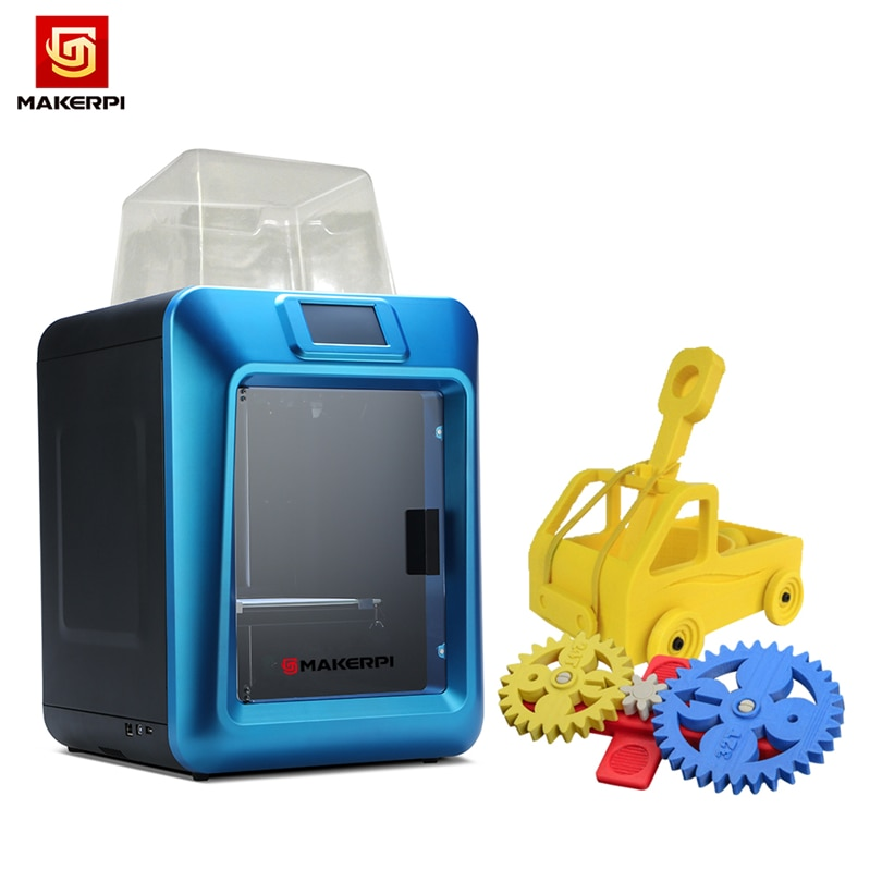 MakerpPi 3d Printer Fully Enclosed Laser Engraving 4.3inch Color Touch Screen Wifi Monitoring with Silent Drive Resume Power