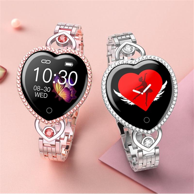 ترف موضة المرأة ساعة ذكية معصمه سوار لياقة بدنية T52S ساعة ذكية ساعة معدل ضربات القلب المقتفي رصد الفرقة الذكية ل Xiao