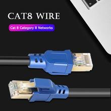RJ45 Male Naar 8P8C Mannelijke Vergulde Afgeschermde Cat8 Ethernet Connector Kabel Voor Xbox Netwerk Adapter Hub Switch Router Modem