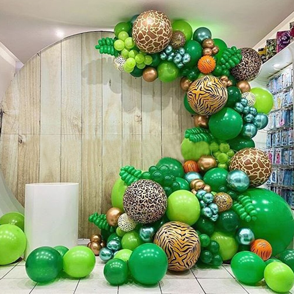 22 zoll 4D Tiere Striped Folie Ballon Dschungel Safari Geburtstag Party Dekorationen Kinder Baby Dusche Helium Ballons Wald Globos