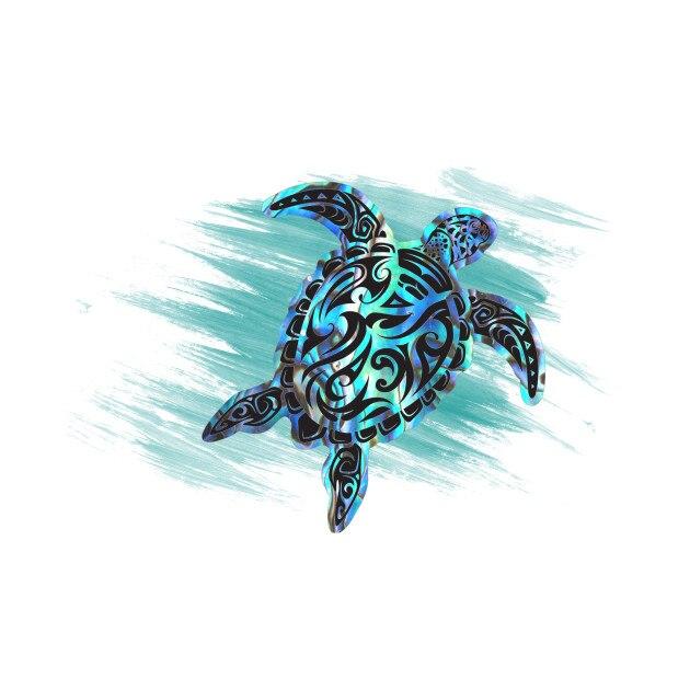 1 piezas de dibujos animados Dazzle mar tortuga etiqueta para portátil de mochila de monopatín casco de estilo de coche accesorios de coche