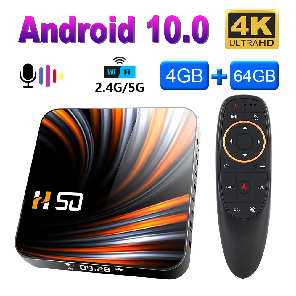 2020 caixa de tv android 10.0 4gb 32gb 64gb rockchip rk3318 caixa de tv inteligente 4k google store suporte netflix youtube 3d conjunto caixa superior