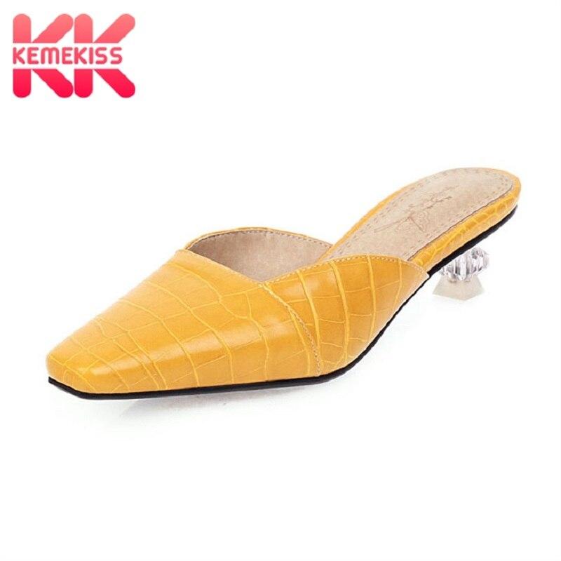 Rizzina de talla grande 34-48 sandalias de mujer zapatos de moda de punta cuadrada deslizantes zapatos perezosos de mujer tacones especiales zapatillas de patrón de piedra