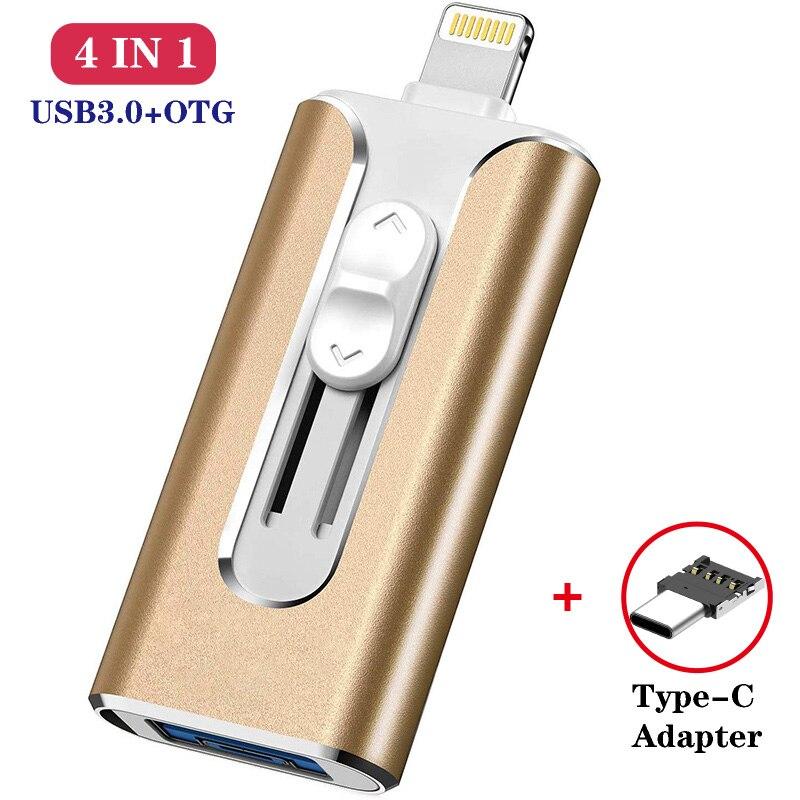Movimentação do flash de usb de microflash para o iphone 8/7/6s/6s mais/6/5/5S/ipad pendrive otg 8gb 16gb 32gb 64gb 128gb pen drive hd memória vara
