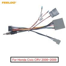 Автомобильный мультимедийный 16 контактный проводной разъем FEELDO 5 шт. с радио антенной адаптер для Honda Civic CRV 2006 ~ 2009 силовой провод # FD6227