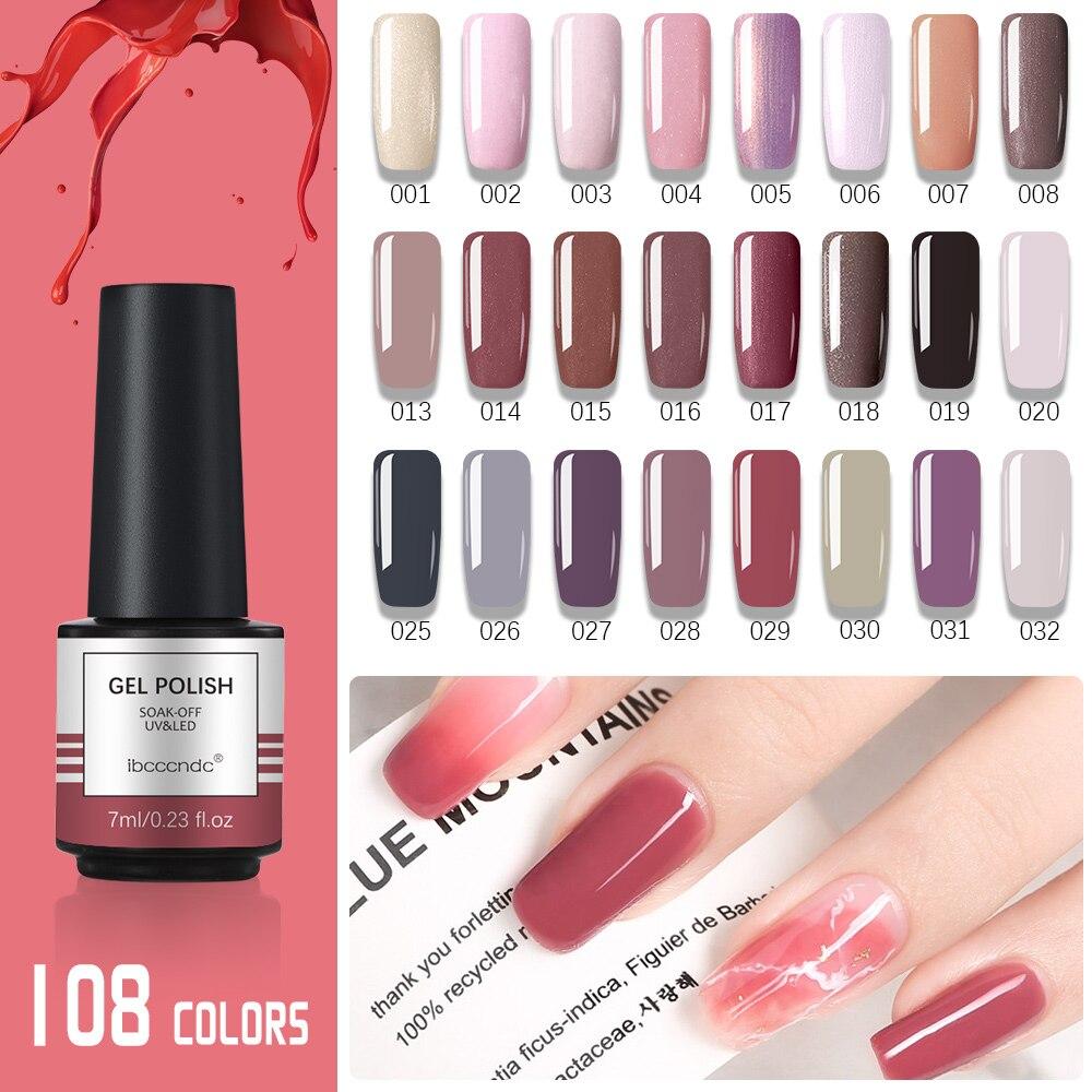 New Free Shipping108 Color Nail Polish Oil Ibcccndc Soak-off UV LED Colorful Luxury Finger Gel Nails