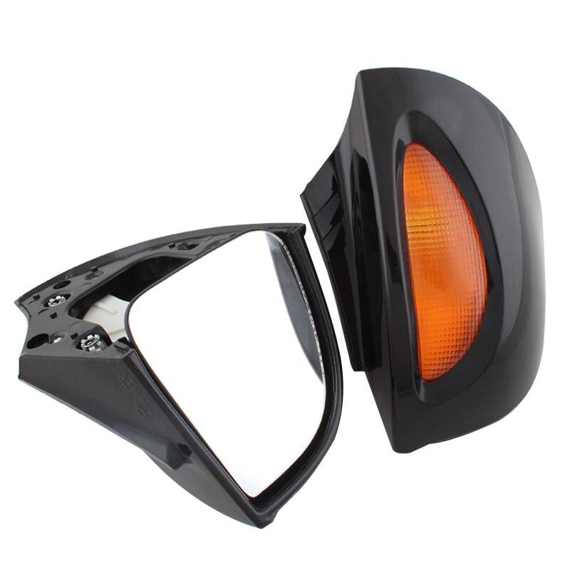 Espejos retrovisores de motocicleta lado posterior espejos ABS Concha ámbar Cristal de señal intermitente apto para BMW R1100 RT R1100 RTP R1150 RT