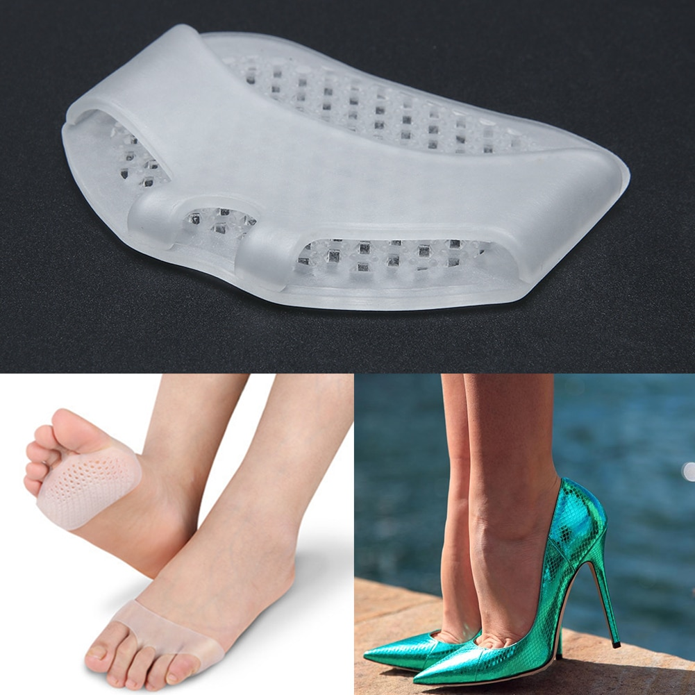 1Pair Silicone heel pads Soft Forefoot Half Yard Pads Invisible High Heel Shoes Slip Resistant Half