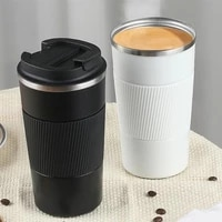 380ml510ml portable stainless steel 304 coffee mug with non slip case thermos mug travel thermal cup thermosmug for gifts
