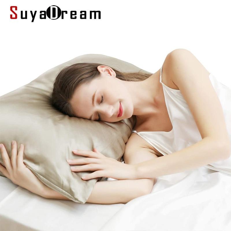 SuyaDearm 1Pc Two-Sided 19mm 100% Mulberry Silk 76CMX51CM Hypoallergenic Pillowcase Skin Face Hair Beauty Care White недорого