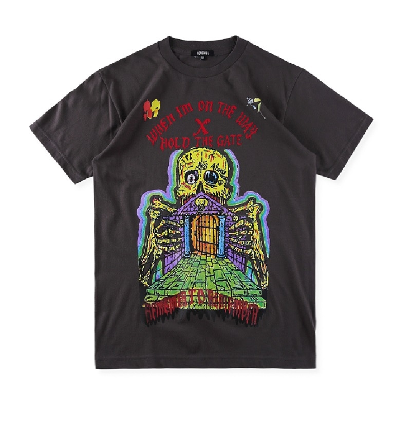 2019ss temporada 6 KANYE WEST camiseta hombres mujeres Streetwear Xxxtentacion HOLD THE GATE camiseta Harajuku Sally Face temporada 6 camiseta