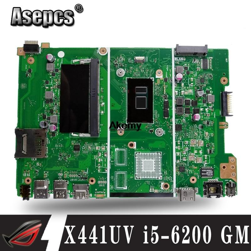 X441UV X441UAmotherboard para For Asus X441U X441UV X441UAK F441U A441U notebook laptop motherboard Teste i5-6200 GM