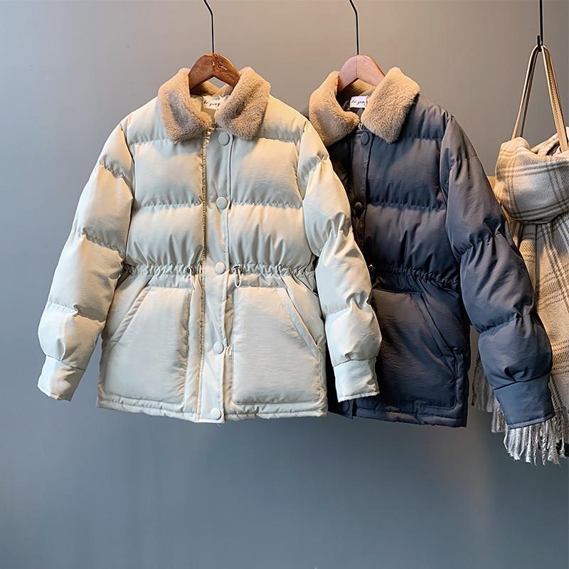 Chaqueta de algodón con un solo pecho para Mujer, Abrigo cálido de...