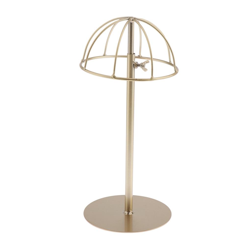 Винтаж дизайнерские шлепанцы; Цвет золотой, металлическая вешалка для шляп/Кепки/Подставка для парика свободный стоящий Дисплей стенд