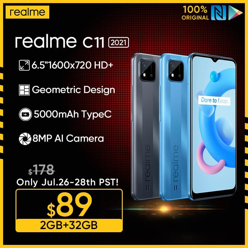 Russian Version realme C11 2021 2GB RAM 32GB ROM 6.5