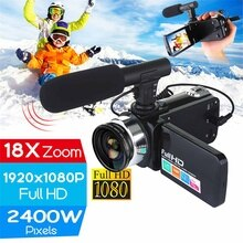 30 MP 4K Professional HD Camcorder vlog Video Camera Night Vision Touch Screen Camera 18X Digital Zo