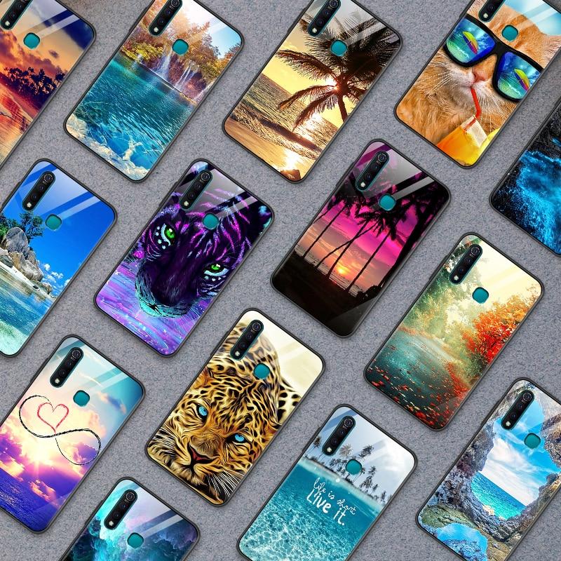 Funda de vidrio templado para Vivo S1 Pro Z5X IQOO NEX como funda de teléfono para Xiaomi de lujo Redmi 5A 6A S2 GO Plus Carcasa protectora completa