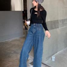 Denim Pants Black Ripped Feminino Bell Bottoms Jardineira Feminina Jeans