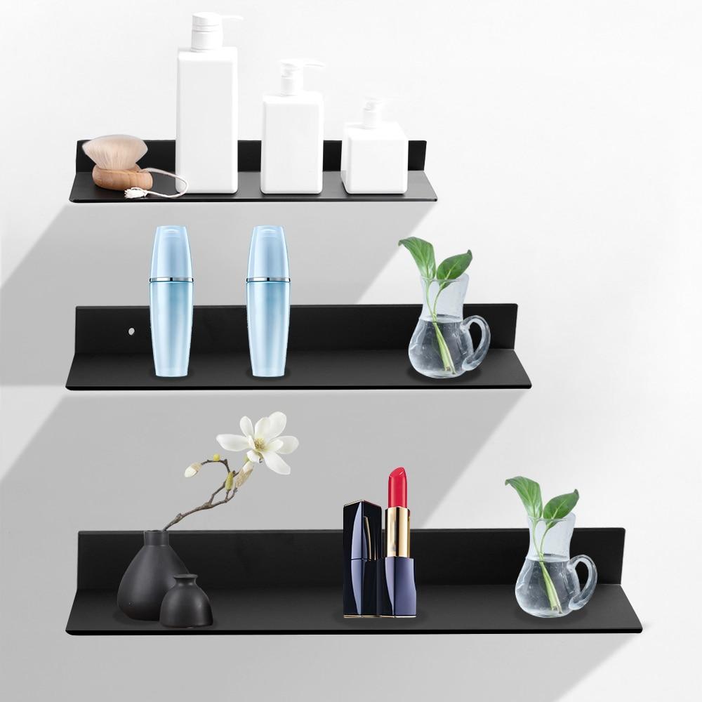 Черный стеллаж для хранения дома на кухню полку полки для ванной 30-60 см аксессуары для ванной комнаты