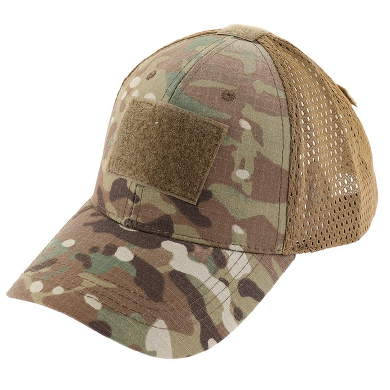 Outdoor Camouflage Adjustable Cap Mesh Tactical Military Army Airsoft Fishing Hunting Hiking Basketball Snapback Hat Unisex