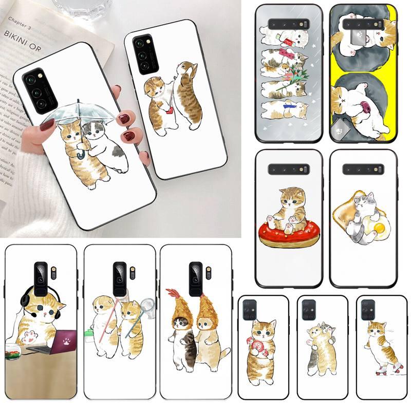 USAKPGRT Funny Cat Phone Case for Samsung S20 plus Ultra S6 S7 edge S8 S9 plus S10 5G lite 2020