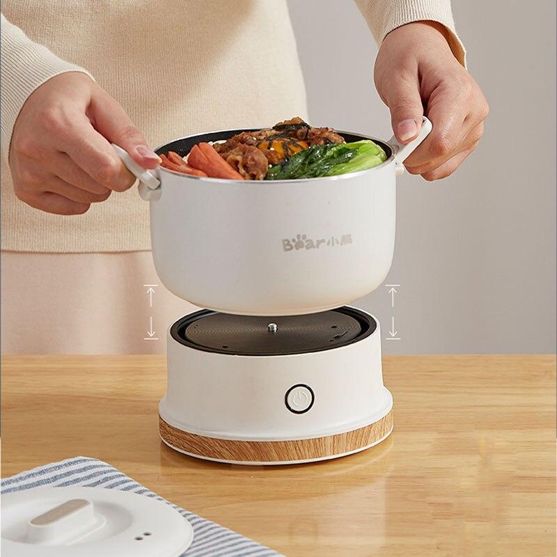 110-240 v multicooker elétrico dobrável mini portátil dobrável panela quente que cozinha o tipo rachado do fogão de arroz do agregado familiar do curso