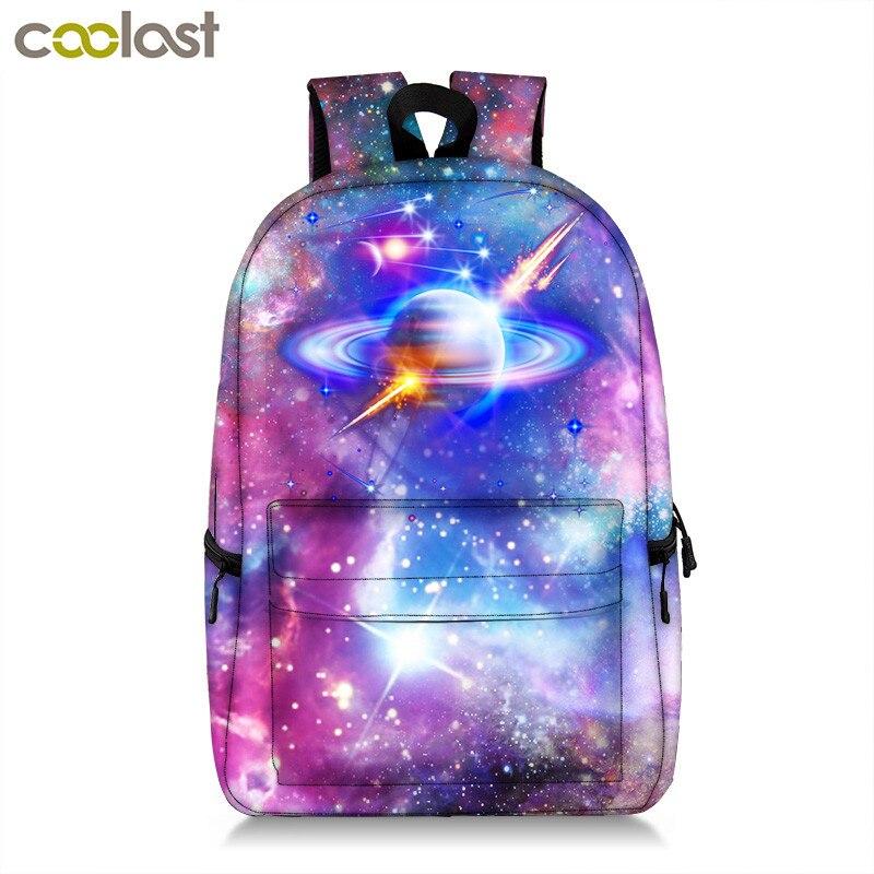 Галактический рюкзак для подростков, девочек и мальчиков, Вселенная, планеты, школьная сумка, студенческий школьный рюкзак, сумка для книг, ...