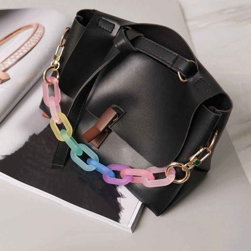 Изысканная цветная цепочка для сумок популярная цепочка для матовых сумок модная индивидуальная акриловая декоративная цепочка для сумок ...