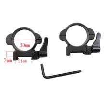 Monture de tisserand en acier pour fusil 30 MM, profil moyen, noir, anneaux de fixation à détachement rapide