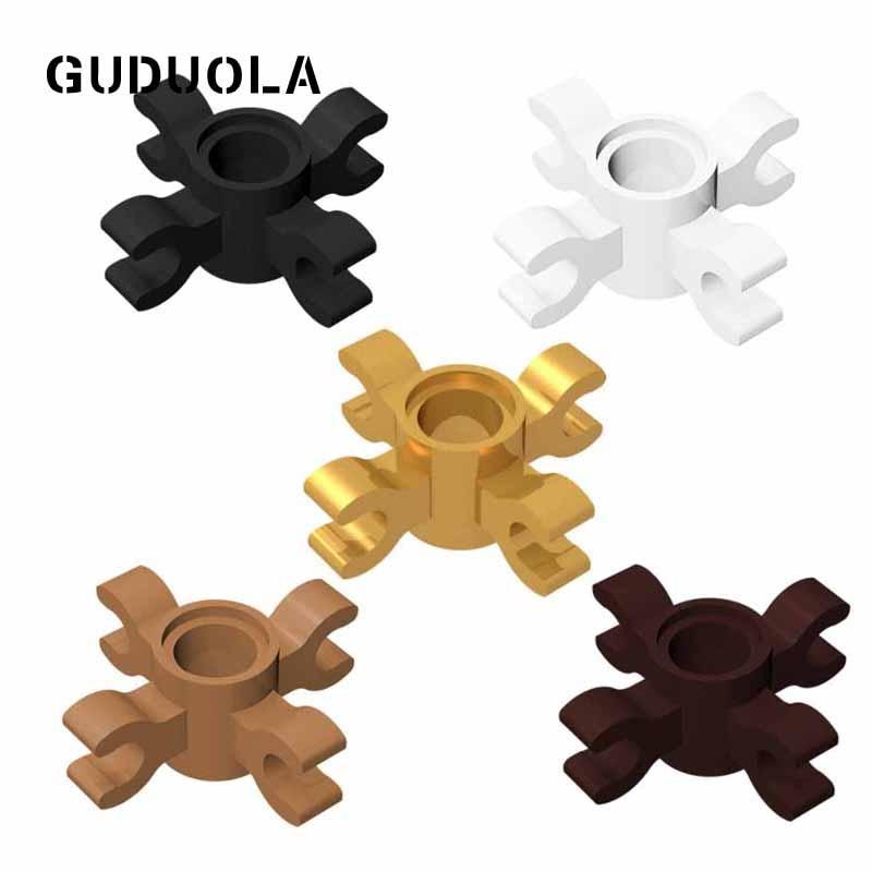 Guduola Especial Tijolos Technic Pin Conector Redondo com 4 Clips 90202 Compatível 15646 MOC Construir Partes 50 pçs/lote
